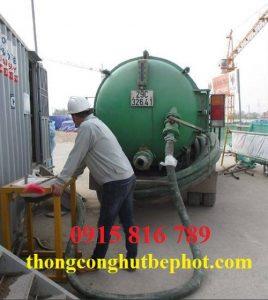 Hút bể phốt KCN Hương Canh