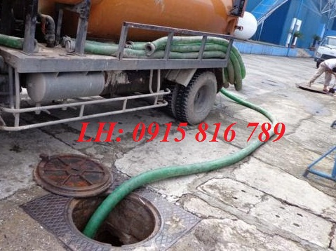 Hút bể phốt cụm công nghiệp Dũng Phong