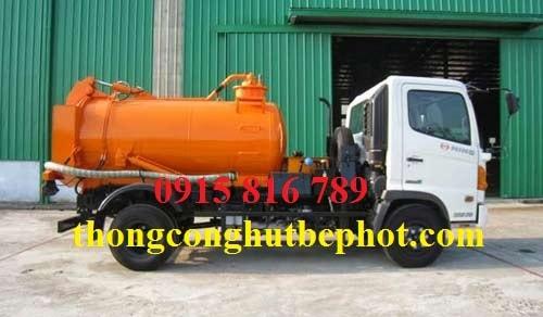 Hút bể phốt KCN Nam Thăng Long