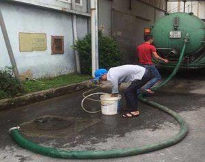 Hút bể phốt cụm CN Phú Thị