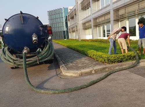 Hút bể phốt KCN An Khánh
