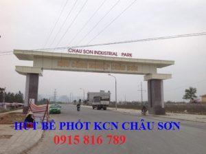 Hút bể phốt KCN Châu Sơn Hà Nam