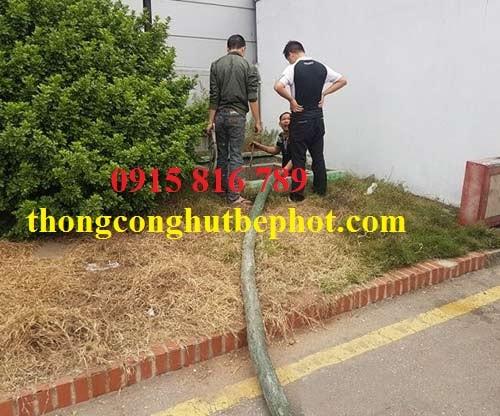 Hút bể phốt KCN Quang Minh