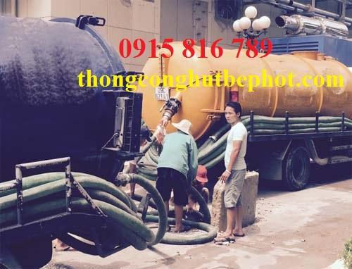 hút bể phốt KCN Sài Đồng B