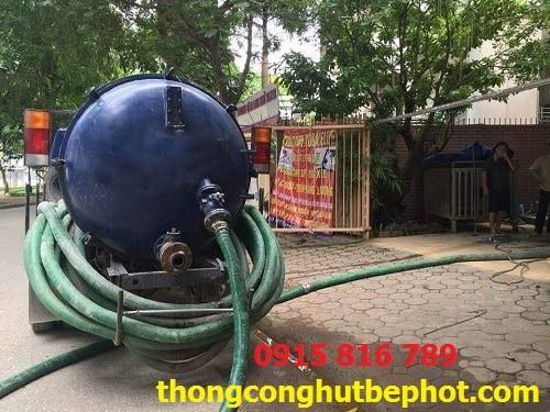 hút bể phốt tại Thái Nguyên