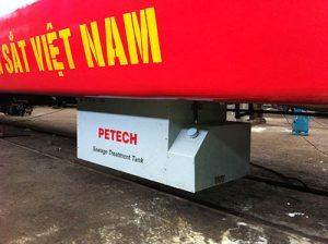 Thi công hút bể phốt tại Hà Nội cho các toa tàu.